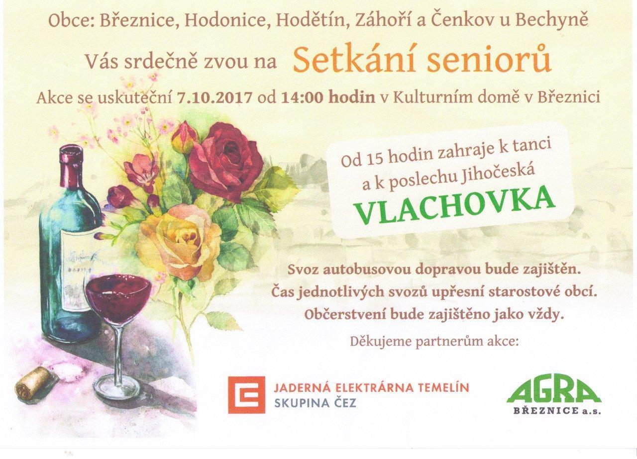 Setkání seniorů v Březnici