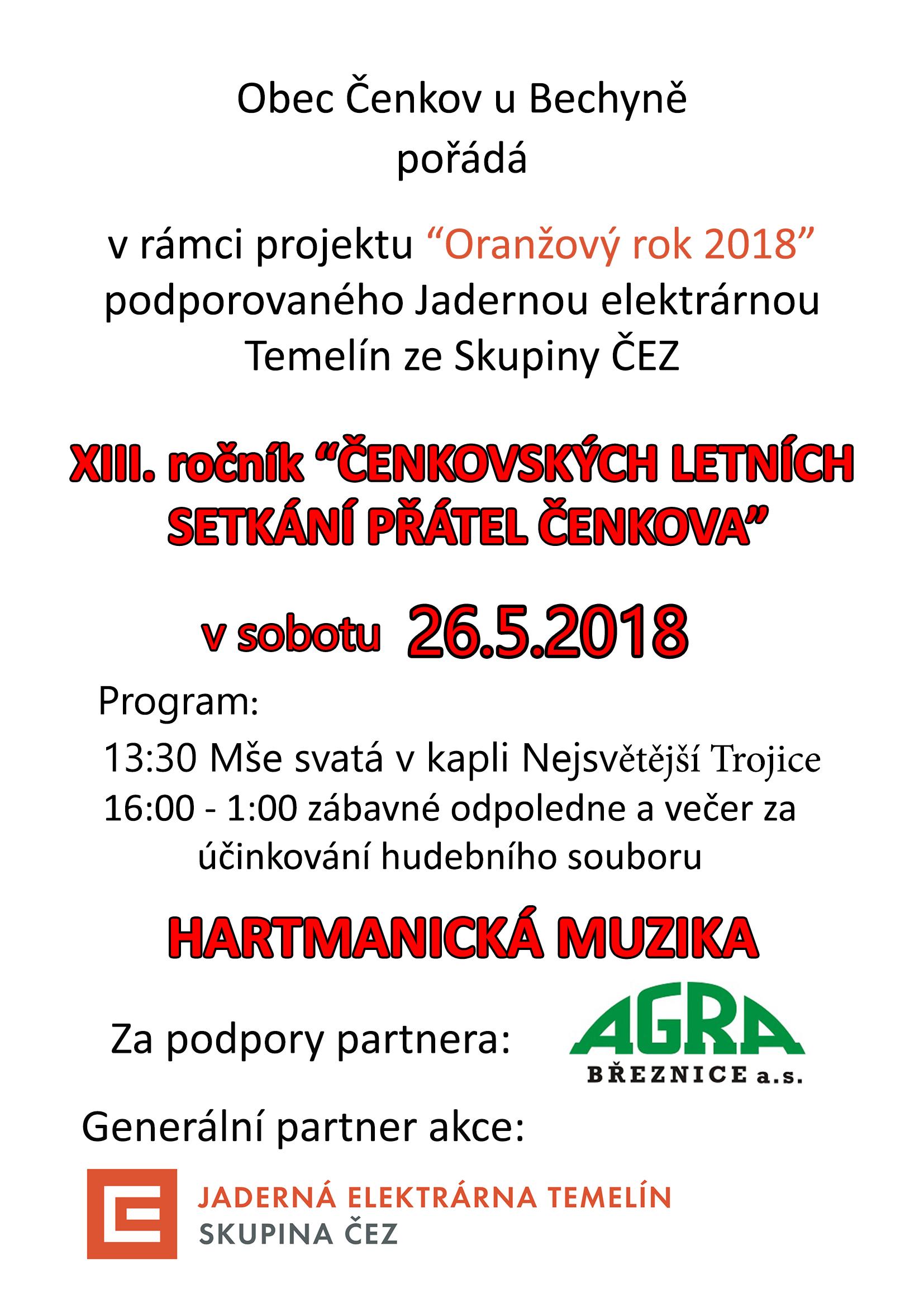 Pozvánka na čenkovskou pouť 2018